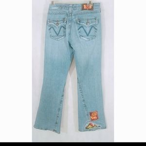 Patch Denim Jeans Embroidery